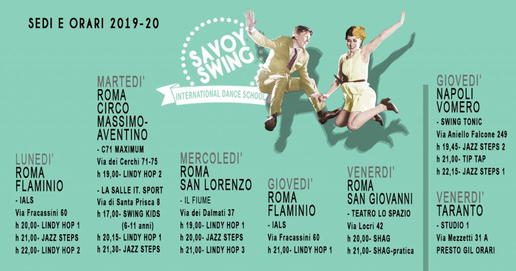 Corsi 2019 SAVOY SWING ROMA